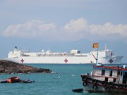 Buque hospital estadounidense USNS Mercy llega a ciudad vietnamita de Nha Trang
