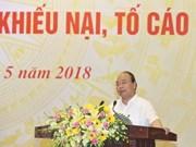 Premier vietnamita insta a mejorar la labor de solución de quejas y denuncias