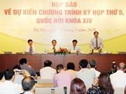 Asamblea Nacional de Vietnam iniciará mañana su V período de sesiones