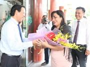 Delegación juvenil de Cuba visita provincia vietnamita de Ben Tre