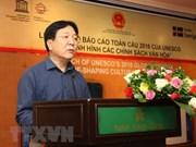 Presentan en Vietnam informe global de la UNESCO sobre reorganización de políticas culturales