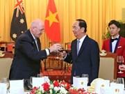 Presidente Tran Dai Quang: Vietnam orgulloso de tener un amigo como Australia