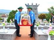 Entierran restos de combatientes vietnamitas caídos en Laos y Camboya