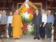 Dirigentes de Vietnam felicitan a comunidad budista por Día de Vesak