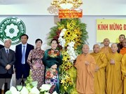 Presidenta parlamentaria vietnamita felicita a comunidad budista en ocasión de Día de Vesak