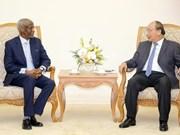 Premier de Vietnam recibe al embajador de Sudán