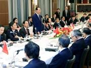 Presidente de Vietnam promete alfombra roja para inversionistas japonesas