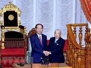 Presidente de Vietnam dialoga con titular de Cámara alta de Japón