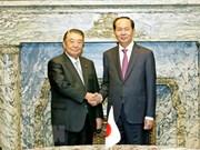 Mandatario de Vietnam se reúne con presidente de la Cámara de Representantes de Japón