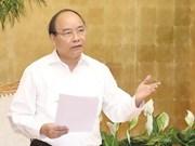 Premier de Vietnam insta a actualizar objetivos de crecimiento económico trimestral
