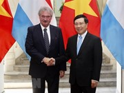Cancilleres de Vietnam y Luxemburgo revisan avance de lazos binacionales