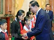 Presidente de Vietnam destaca logros en protección y cuidado infantil