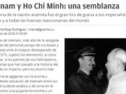 Periódico Granma destaca vida del Presidente Ho Chi Minh y espíritu patriótico del pueblo vietnamita