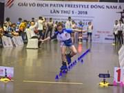 Celebran en Vietnam Campeonato regional de patinaje de estilo libre