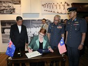 Malasia y Australia buscan fomentar cooperación en defensa