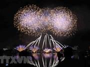 Italia se corona en concurso pirotécnico en Da Nang con puentes de luces y música
