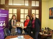 Fomentan cooperación entre uniones de mujeres de Vietnam y Argentina
