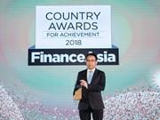 Vietcombank considerado mejor banco de Vietnam por revista FinanceAsia