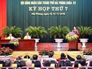 Asiste presidenta del Parlamento de Vietnam a sesión del Consejo Popular de Hai Phong