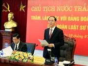 Presidente Tran Dai Quang trabaja con la Federación de Abogados de Vietnam