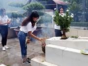 Jóvenes residentes en exterior recuerdan a mártires en encrucijada Dong Loc