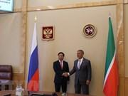 Tartaristán reafirma compromiso de favorecer inversiones vietnamitas en su territorio