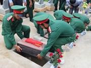 Efectúan ceremonia de enterramiento de restos de militares voluntarios vietnamitas caídos en Camboya