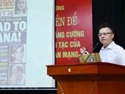 Efectúan en Vietnam seminario sobre lucha contra información distorsionada de fuerzas hostiles en el ciberespacio