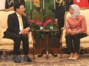 Vicepremier vietnamita se reúne con dirigentes de Singapur