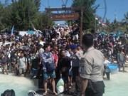 Aeropuerto de Lombok saturado de turistas que buscan salir tras terremoto en Indonesia