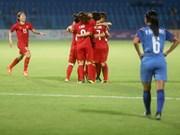 Selección femenina de fútbol de Vietnam avanza a cuartos de final de ASIAD 2018