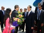 Presidente de Vietnam inicia su visita estatal a Egipto