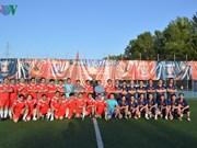 Embajador de Vietnam asiste a clausura competencia de fútbol de connacionales en Rusia