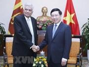 Vietnam aspira a fomentar las relaciones con Sri Lanka, afirma el vicepremier