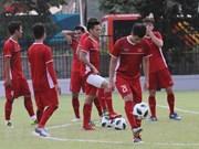 Selección de fútbol de Vietnam se prepara para el duelo con Siria este lunes en juegos continentales