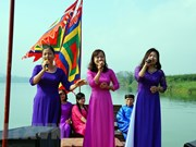 Clausuran en Vietnam cuarto festival de los cantos folklóricos Vi Giam Nghe Tinh