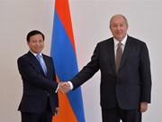 Presidente armenio aprecia las relaciones con Vietnam