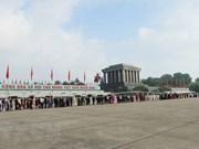 Más de 38 mil personas visitan Mausoleo de Ho Chi Minh en ocasión del Día de Independencia