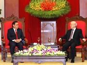 Dirigente partidista vietnamita apoya cooperación con Frente de Construcción Nacional de Laos