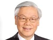 Máximo dirigente partidista de Vietnam parte rumbo a Rusia para visita oficial