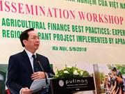 Analizan servicios financieros a favor de agricultura y zonas rurales en Vietnam