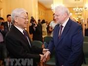 Dirigente partidista de Vietnam se reúne con presidente del Partido Rusia Justa