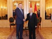 Máximo dirigente político de Vietnam sostiene encuentro con ejecutivos de Gazprom y Zarubezhneft