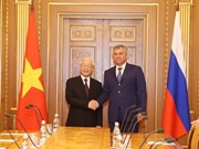 Presidente de Duma Estatal de Rusia destaca visita de dirigente partidista vietnamita
