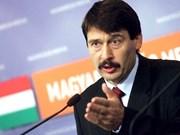 Vietnam es socio más importante de Hungría en Sudeste de Asia, afirma presidente Janos Ader