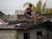 Supertifón Mangkhut toca tierra en Filipinas