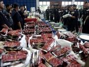 Policía malasia incauta mayor cantidad de drogas desde 1996