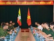 Oficiales jóvenes de Vietnam y Myanmar robustecen intercambio de experiencias