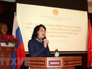 Vicepresidenta vietnamita se reúne con connacionales residentes en Rusia