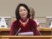 Vicepresidenta de Vietnam dialoga con titular del Consejo de la Federación de Rusia